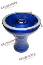 Чашка керамическая для курительных камней (внешняя) синяя