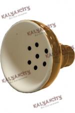 Чашка керамическая для кальяна MYA (внешняя) коричневая