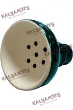 Чашка керамическая для кальяна MYA (внешняя) зелёная