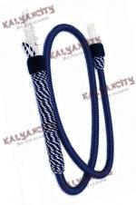 Шланг для кальяна Ager VIP (с ручкой) синий